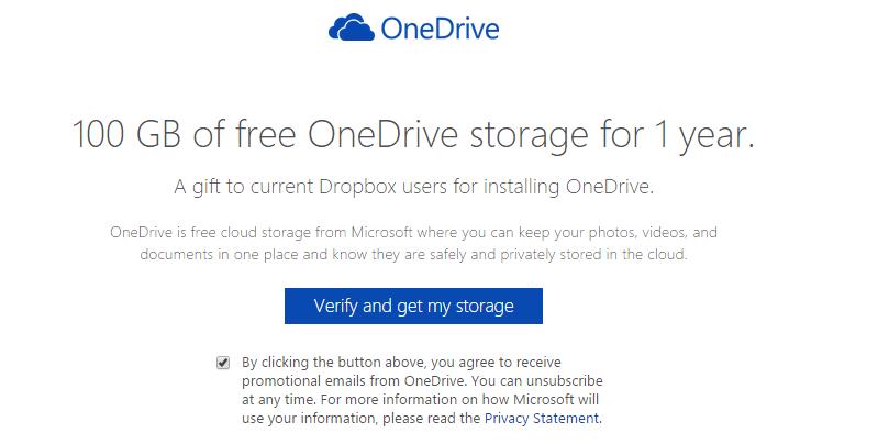OneDrive 100 gb dropbox