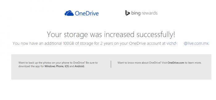 OneDrive 100 gb