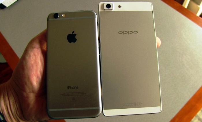 Oppo R5 vs iPhone 6 en San Valentin