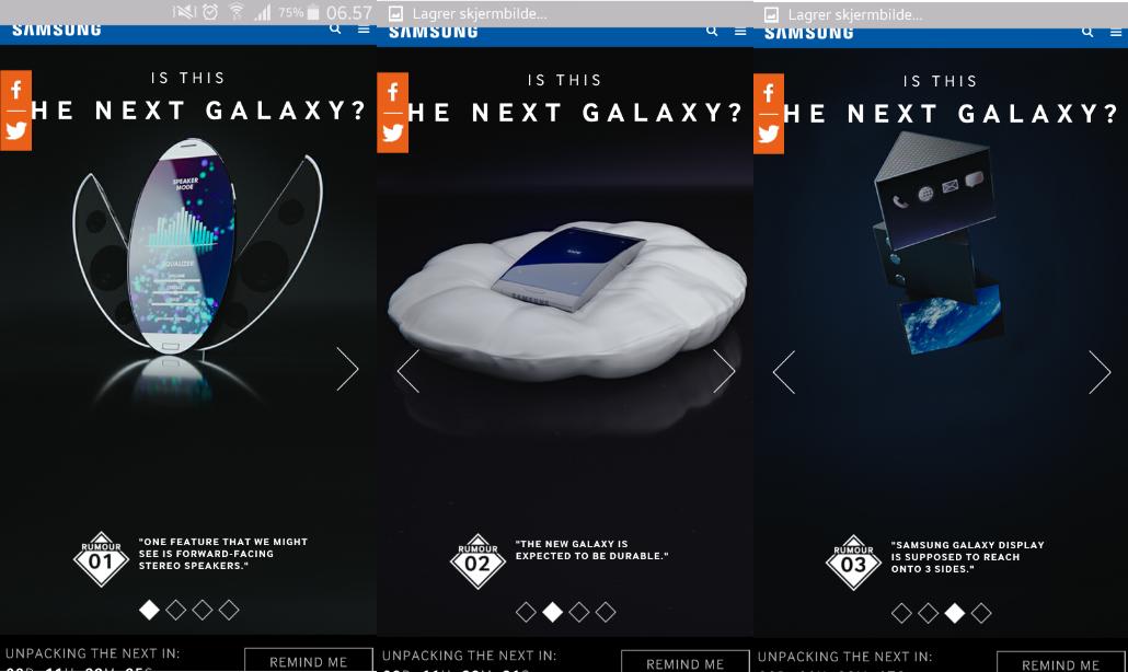 Samsung Noruega podria filtrar fragmentos del Galaxy  S6