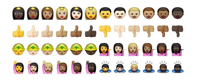 emoji more skin tones