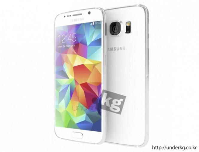 Render inspirado en los rumores del Samsung® Galaxy S6