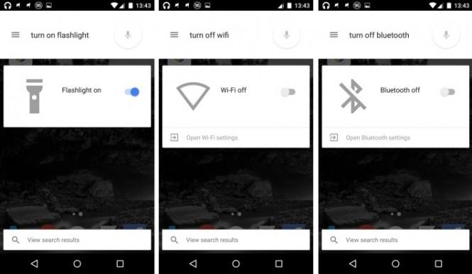 Google Now permite controlar la linterna, wifi o bluetooth por medio de voz