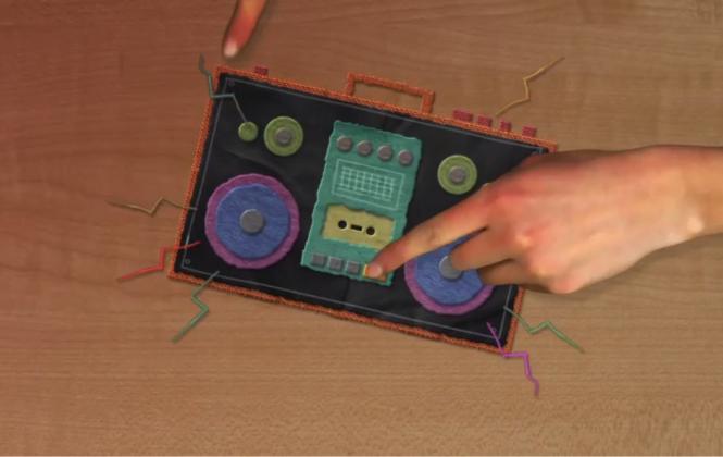 Imagen del video donde HTC® enfatiza el enorme sonido del One M9