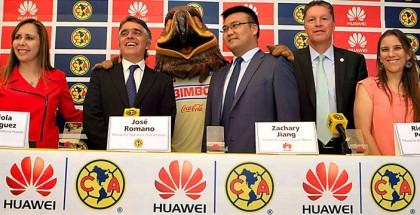 huawei patrocinador club america