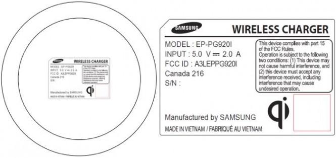 Certificación de la FCC para el cargador inalámbrico del Samsung Galaxy S6