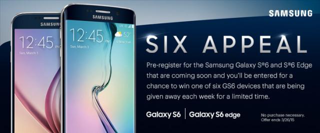 Imagen promocional de Sprint para el Samsung Galaxy S6 y Galaxy S6 Edge