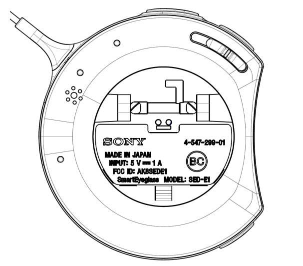 Sony SmartEyeglass en documentos de la FCC