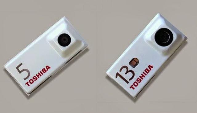 Módulos de 5 y 13 megapixles de  Toshiba