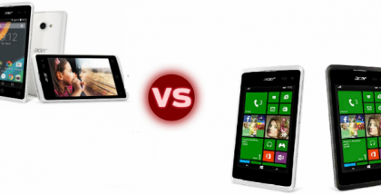 Acer WIndows Phone vs Android