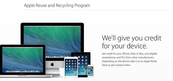 Apple programa  reciclaje e intercambio