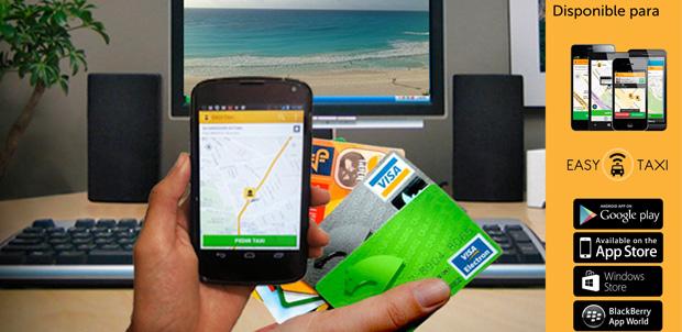 Easy Taxi ahora acepta pagos con tarjeta de crédito o débido.