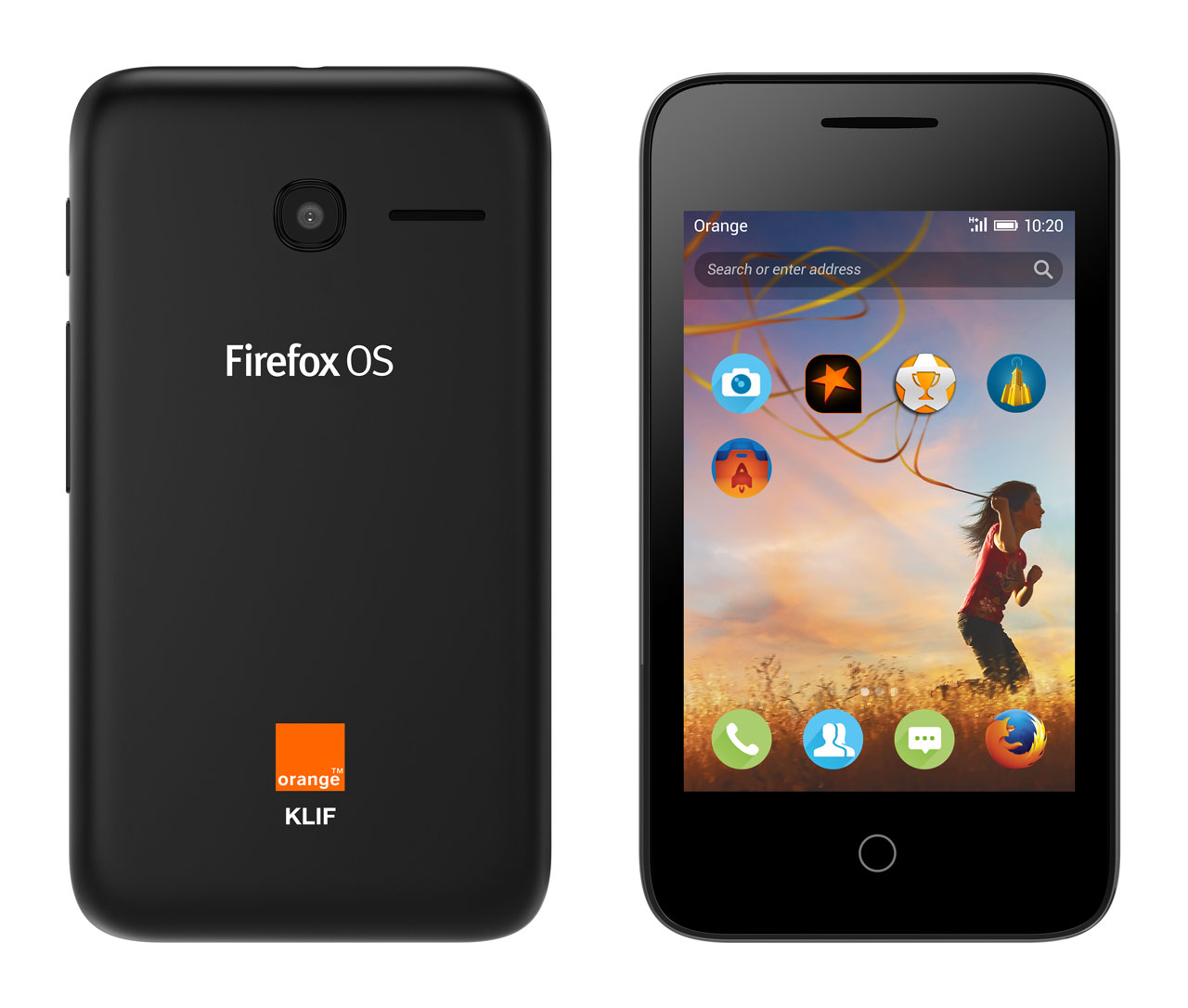 Firefox os-Orange-Klif-3G-Volcano-Black