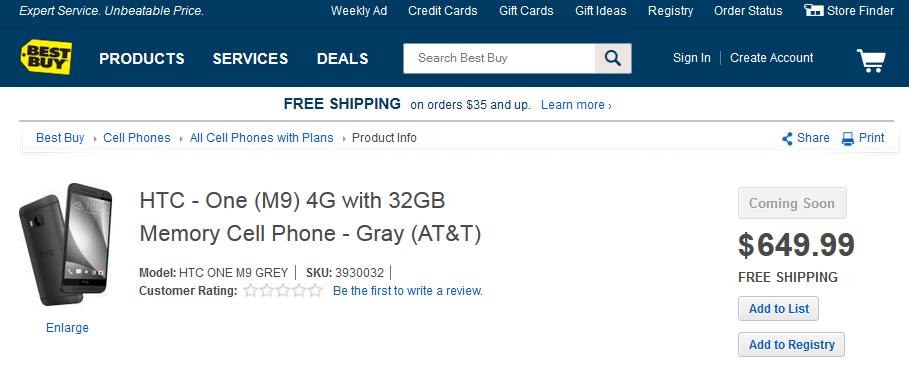 HTC One M9_best buy precio