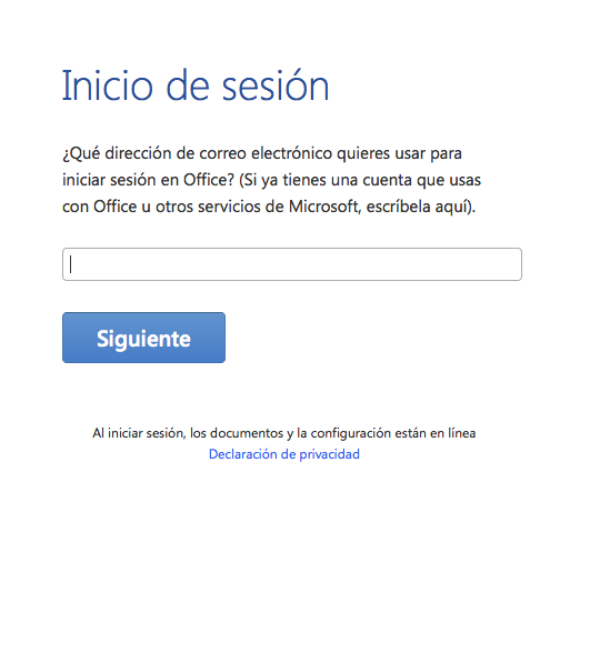 Microsoft Office for Mac Preview-login