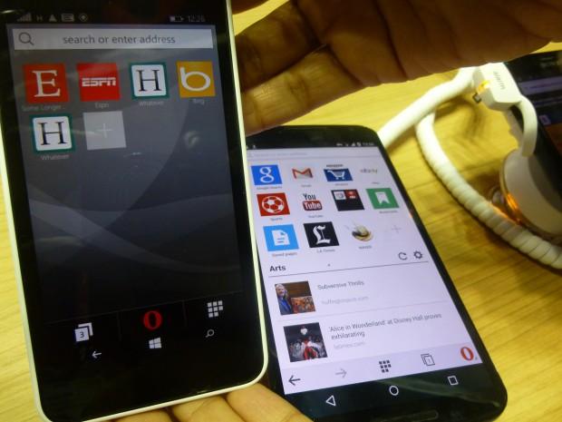 Opera Mini Preview Windows Phone Lumia 640 MWC2015_1