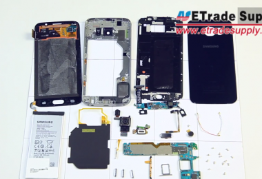Samsung Galaxy S6 se enfrente a una caja de herramientas