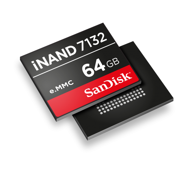 SanDisk iNAND 7132 de 64 GB