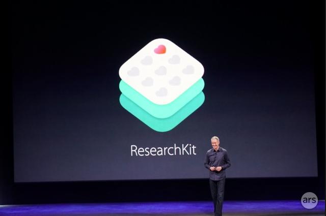 Presentación de ResearchKit en el evento de Apple