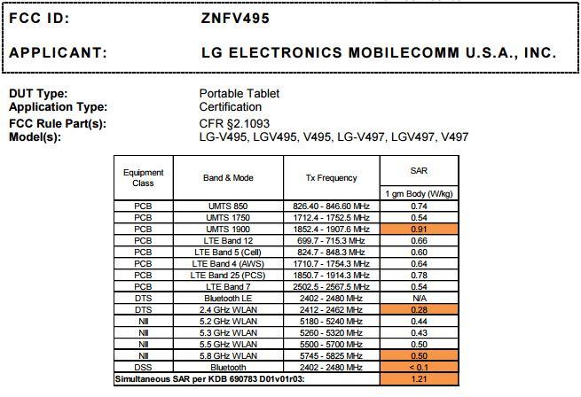 AT&T y T-Mobile también tendrán una versión de la LG G Pad F 7.0