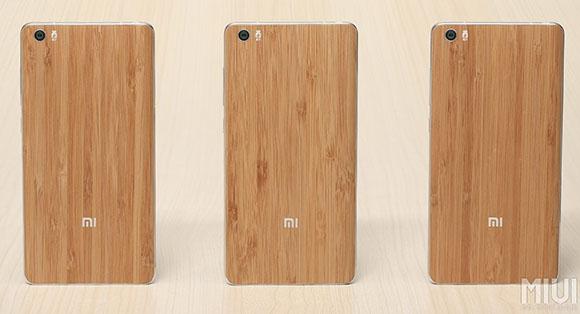 Cubiera trasera de bambú natural de la nueva Mi Note