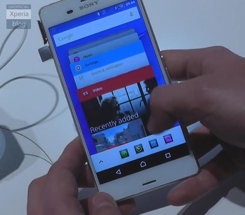 Sony Xperia Z3 con Android 5.0 Lollipop