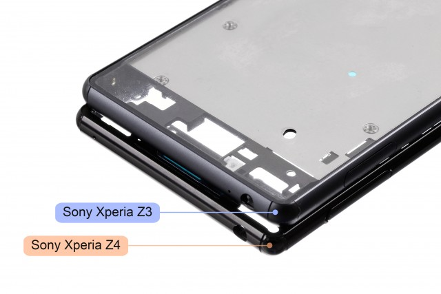 Esqueleto del Xperia Z4 comparado con el del Xperia Z3