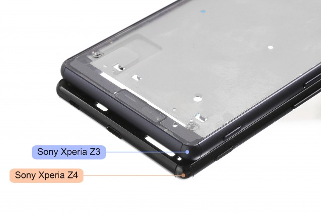 Puerto Micro USB descubierto en el Xperia Z4