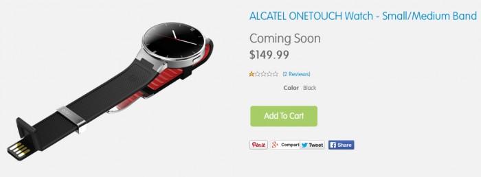 alcatel one touch watch presale