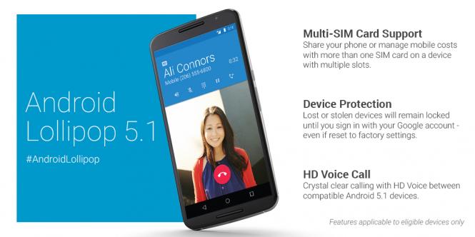 Nuevas funciones de Android 5.1