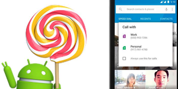 Android 5.1 con soporte para varias tarjetas SIM