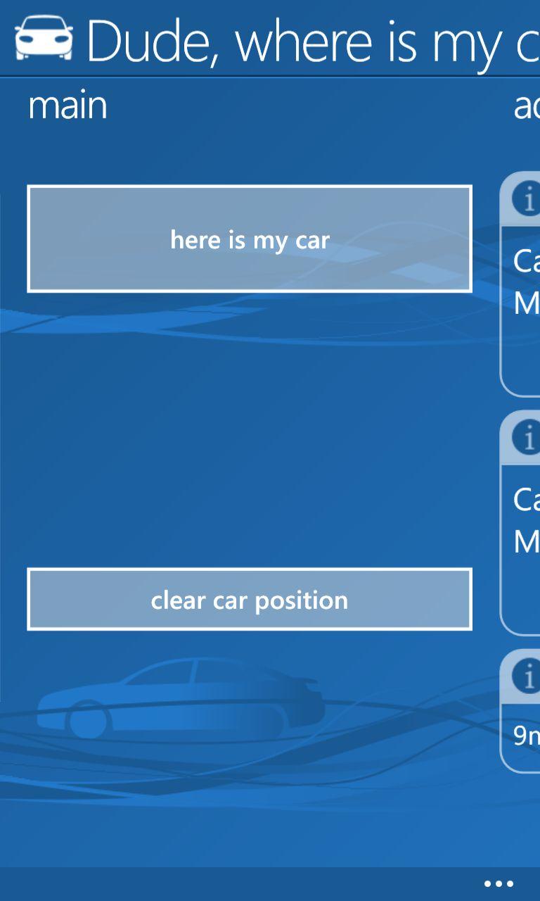 donde esta mi coche