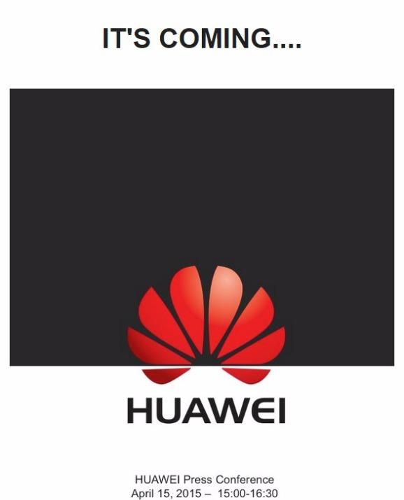 Invitación para el evento de Huawei que se llevará a cabo el 15 de abril en Londres