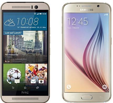 HTC One M9 y Samsung Galaxy S6