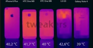 El HTC One M9 se mantiene con una temperatura promedio al correr un benchmark