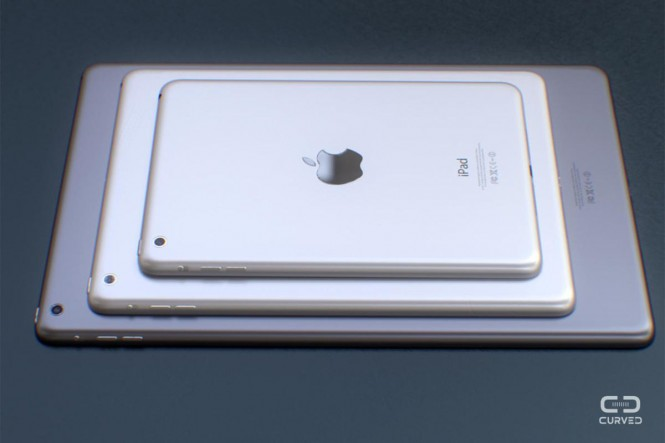 Supuestos tamaños de iPad® en el 2015