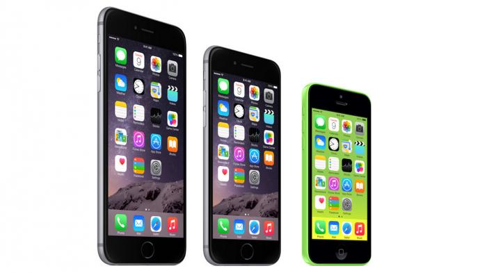 iPhone 6 Plus, iPhone 6 y iPhone 5C