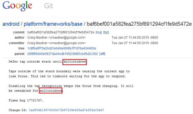 Código del Framework de AOSP