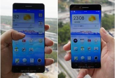Teléfono Oppo que usa la patente para lograr una pantalla casi sin bordes