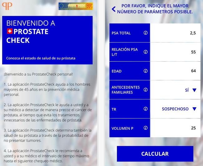 prostate check app