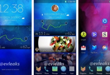 Imágenes del año pasado mostrando una nueva interfaz de TouchWiz