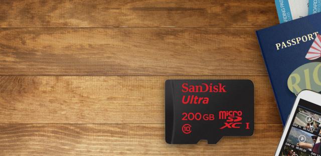 SanDisk presenta la microSD con mayor capacidad del mundo, 200GB