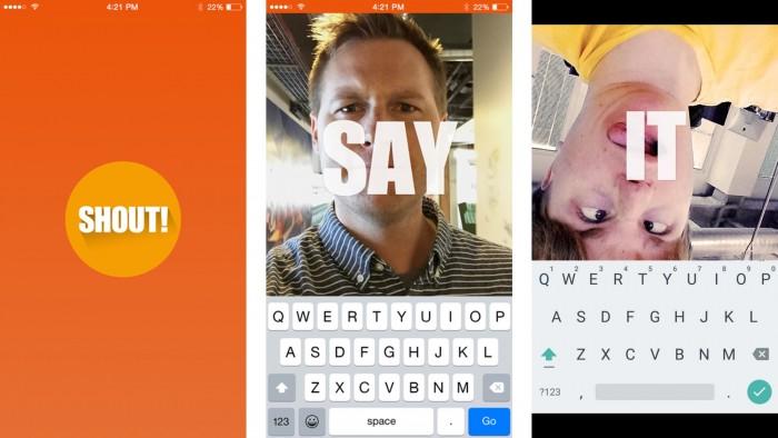 Shout te permite combinar texto e imagnees con un resultado muy divertido (Foto: tiendas de aplicaciones)
