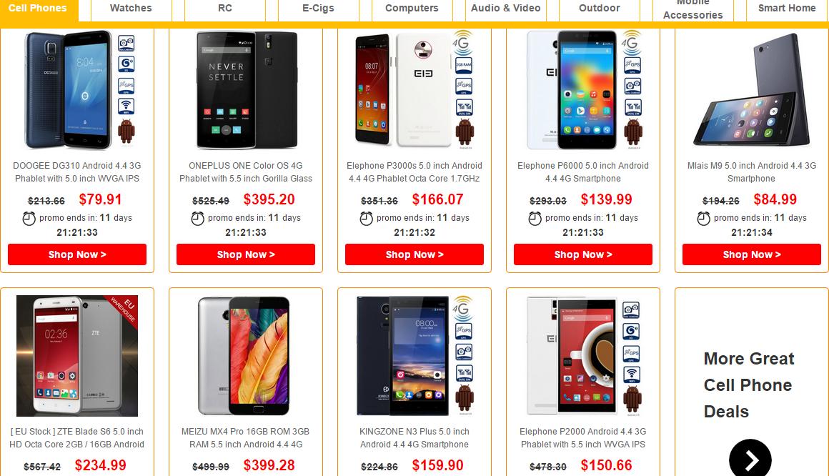 Entre las marcas con descuentos que podemos encontrar están OnePlus, Meizu, Doogee y ZTE