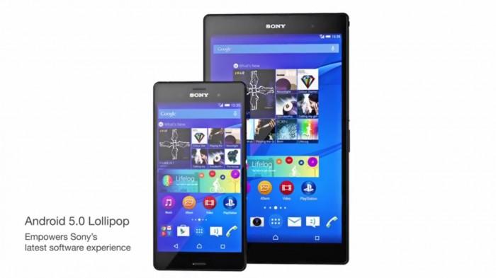 Actualización de Android 5.0 en Xperia Z3 y Xperia Z3 Tablet Compact