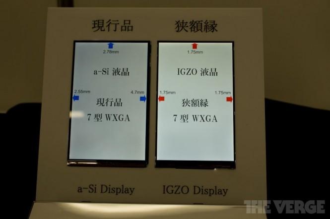 Comparación de pantalla IGZO con a-Si