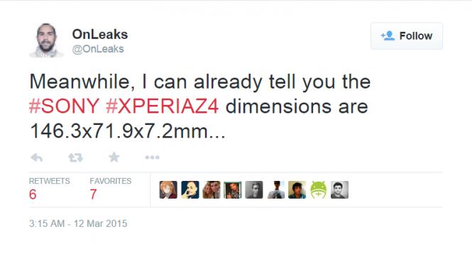 xperia z4 dimensions