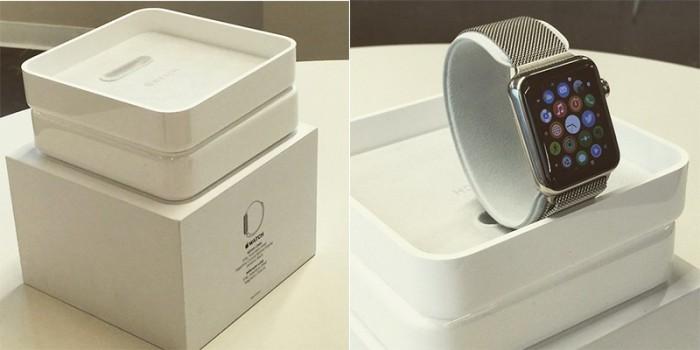 Caja que contiene al Apple Watch