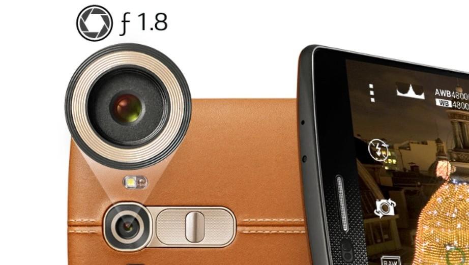 Cámara del LG G4 con apertura f/1.8