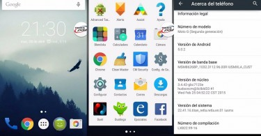 Moto G (2014) Iusacell con Android 5.0.2 Lollipop